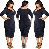 Plus Size Summer Womens Bodycon Evening Party Cocktail Bandage Maxi Long Dress = 5659492929
