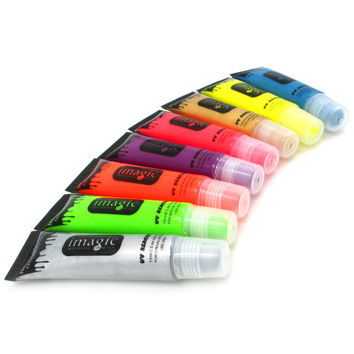 IMAGIC Neon UV Bright Face & Body Paint Fluorescent Rave Festival Painting 13ml Halloween professional painting Beauty Makeup