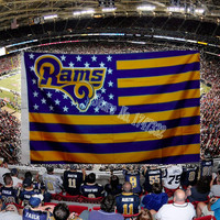 NFL St Louis Rams Flag 3' x 5' Stars & Stripes Banner
