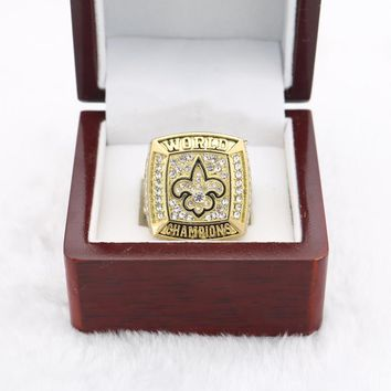 XW036 Drop shipping 2009 New Orleans Saints World Championship Ring for gift