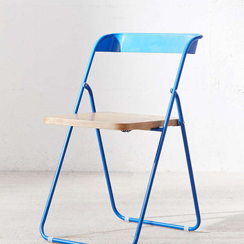 Nora Wooden Folding Chair | Urban Outfitters