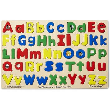 Melissa and Doug-Upper & Lower Case Alphabet Puzzle