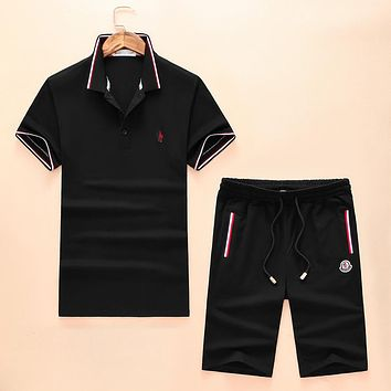 Boys & Men Moncler Shirt Top Tee Shorts Set Two-Piece