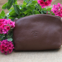 Italian Leather Handmade Pouch/Wallet/Make-up Pouch- DB102
