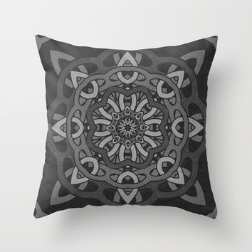 Greythorn Pattern Throw Pillow by Likelikes