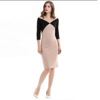 Color Block Mid Dress B0014211