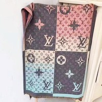 LV Louis Vuitton New Women Warm Cashmere Cape Scarf Scarves Shawl Accessories