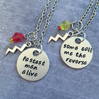 Flash And Reverse Flash Best Friends Necklaces - Flash CW Jewelry - Barry Allen Inspired Jewelry - Reverse Flash Jewelry - Fandom Jewelry