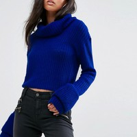 Missguided Open Stitch Roll Neck Jumper at asos.com