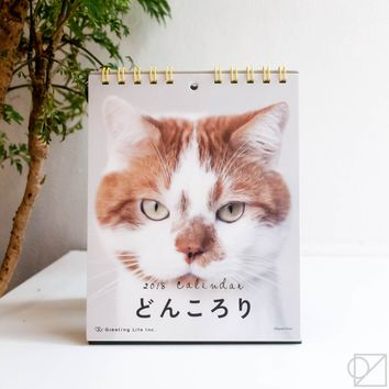 Don Korori Cat 2018 Desk Calendar