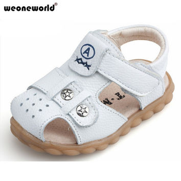WEONEWORLD 2016 Summer Style Genuine Leather Baby Boys Shoes Outdoor Toddler Shoes Infant Boys Prewalkers Shoes 4 Colors