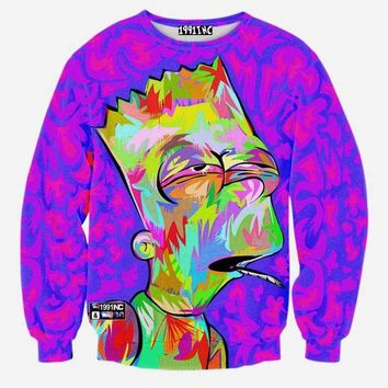 Colorful Bart Simpson Sweater
