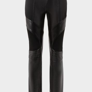 Versace Nappa Leather Biker Pants for Women | Official Website