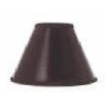 "68550 - Black Clip On Candelabra With Gold Interior Lampshade - 3"" Top X 7"" Bottom X 5"" Height"