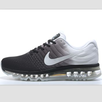 """NIKE"" Trending Fashion Casual Sports Shoes AirMax section Grey white"