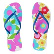 Elsa Flower-Flip Flops: Orange Way Flip Flops