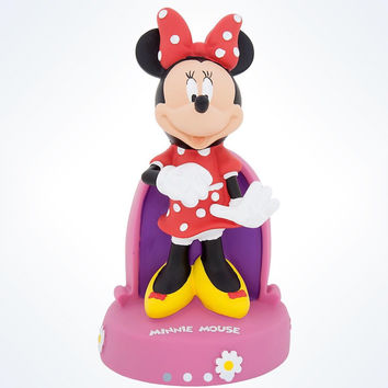 disney parks minnie mouse daisies plastic coin bank new