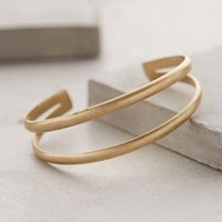 Diverged Cuff by Anthropologie Gold One Size Jewelry