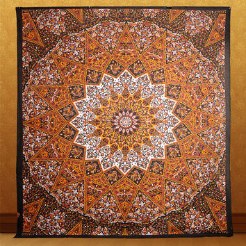 queen tapestry mandala psychedelic star tapestry hippie wall hanging bohemian boho bedding throw bedspread ethnic home decor art