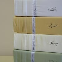 CalKing Waterbed Solid 1500 Thread count 100% Egyptian cotton Sheet sets (unattached)