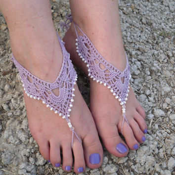 Free Shipping White Crochet Barefoot From Serbiangirl On Etsy