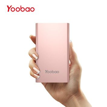 Yoobao KJ01 4000mAh Dual USB Input External Battery Ultra Thin 9.3mm Portable Charger Li-Polymer Mobile Phone Power Bank for LG