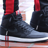 Air Jordan 1 Paris Saint-Germain Black/Black-White-Challenge Red - Best Deal Online