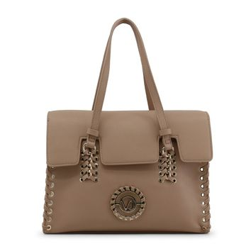 Versace Studs Synthetic Leather Handbag