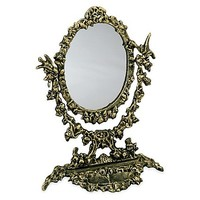 One Kings Lane - Your Dressing Room - Elaborate Cast Iron Mirror