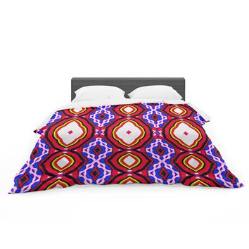 """Dawid Roc """"Inspired By Psychedelic Art 2""""  Red Abstract Featherweight Duvet Cover"""