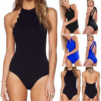 Womens One-Piece Swimsuit Swimwear Push-Up Backless Monokini Bikini Bathing Suit