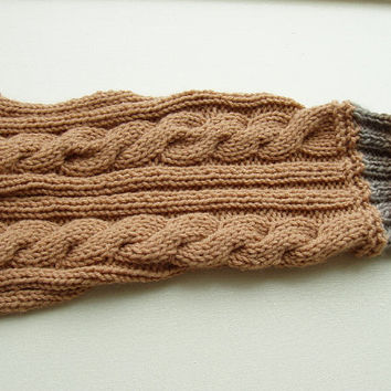 Dog Sweater Hand Knit Cable Great Day For a Walk Medium by jenya2