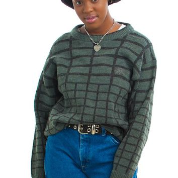Vintage 80's Check Mate Sweater - One Size Fits Many