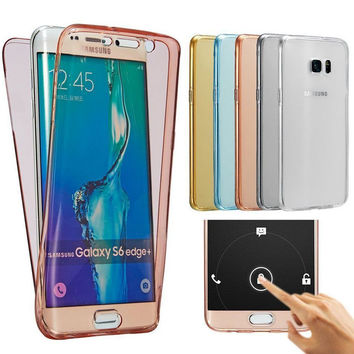 Soft Touch Case Full body 360 Coverage Cover For Samsung Galaxy Grand Prime A3 A5 A7 J3 J5 J7 2015 2016 S3 S4 S5 Neo S6 S7 edge