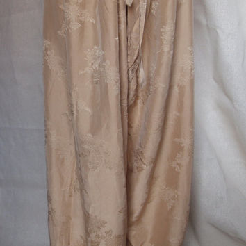 Silk pyjama bottoms/pantaloons/lounge pants/silk trousers/vintage pyjamas/pjs/drawstring pants/pj bottoms/culottes/Chinese silk trousers