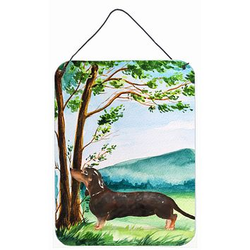 Under the Tree Dachshund Wall or Door Hanging Prints CK2028DS1216