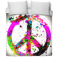 Peace Sign Bedding