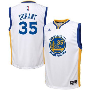 Youth Golden State Warriors Kevin Durant White Home Replica Jersey