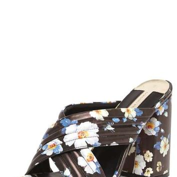 Online Exclusive 'Sydney' Floral Cross Over Mules - View All New In - New In
