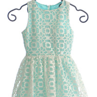 Elisa B Daises Tween Dress in Aqua
