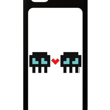 8-Bit Skull Love - Boy and Boy iPhone 5 / 5S Grip Case  by TooLoud