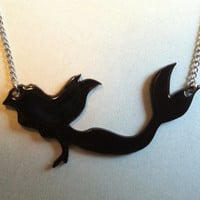 Ariel Silhouette Necklace by PaperComposure on Etsy