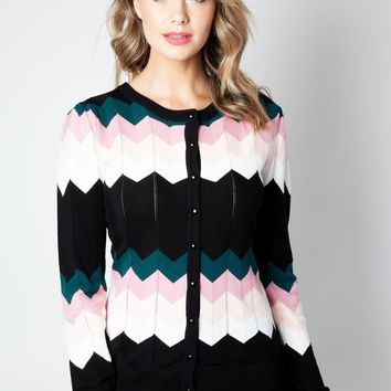Julia Chevron Cardigan