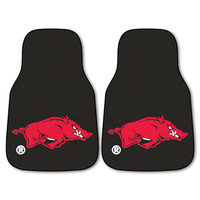 Arkansas Razorbacks NCAA 2-Piece Printed Carpet Car Mats (18x27)