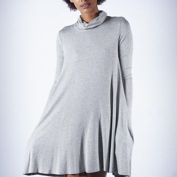 Strictly Business athleisure dress, grey