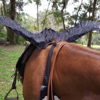 Riding Horse Wings -- Feathered Wings for Horse -- Pegasus, Knight Costume