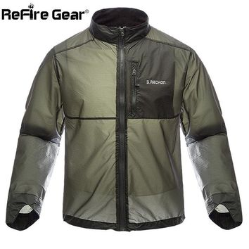 ReFire Gear Portable Military Army Waterproof Jacket Men  Ultra-light Nylon Skin Jacket Tactical  Raincoat