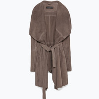 Long suede jacket