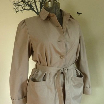 Vintage London Fog Jacket Car Coat Short by rileybella123 on Etsy