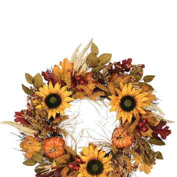 Wheat & Sunflower Wreath